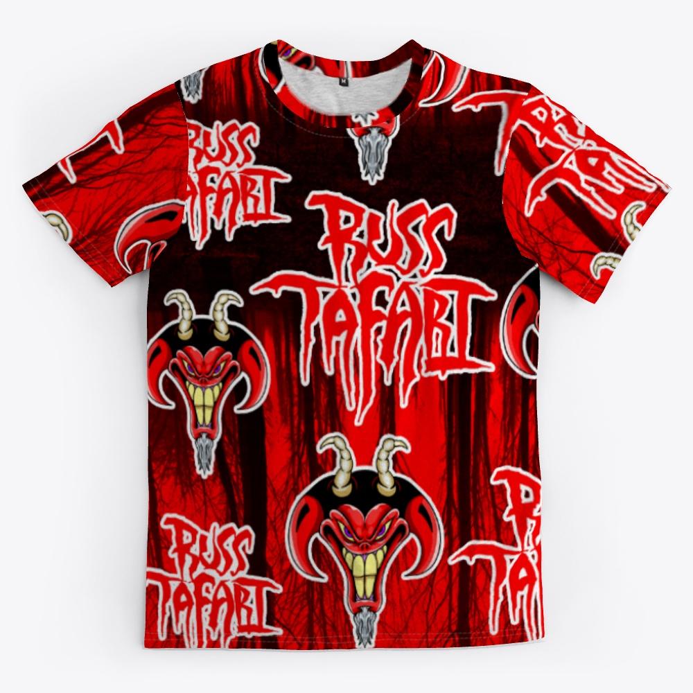 Russ Tafari all over print t-shirt